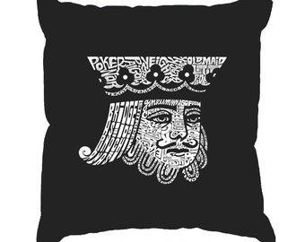 Throw Pillow Cover - King of Spades