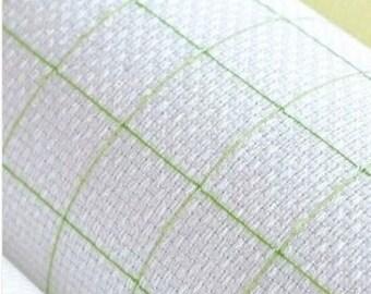 "14 CT cross stitch aida cloth with grid - white, 29.5"" x 17.5"" (75cm x 45cm)"