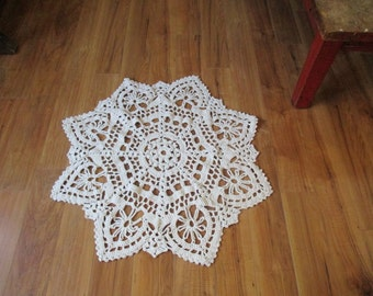 Extra Large Crochet doily enormous chair doily Huge Doily rug Tablecloth doily centerpiece Granny Chic home decor traditional doily