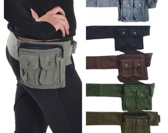 SALE - UTILITY BELT, Assorted colours, Fanny Pack, Canvas pocket belt, festival belt, belt, hip bag, Hip pack, waist belt, BUMBAg, Cnbeis