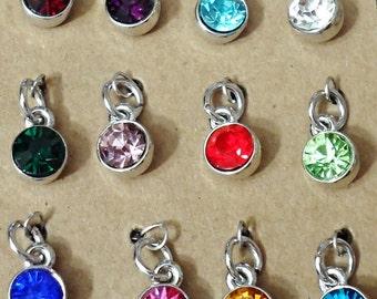 ADD ON Swarovski birthstone crystal add on to bracelet or necklace  - personalized gift idea