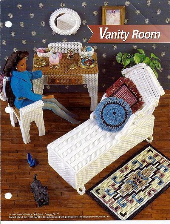 Vanity Room Barbie Furniture Plastic Canvas Patterns Annies