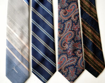 1960s vintage  neckties....instant collection of 4 neckties