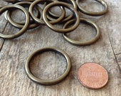 16pc - Plastic Antique Brass Hoops, Jewelry DIY, Jewelry Making, DIY, Craft Supplies, Jewelry Supplies