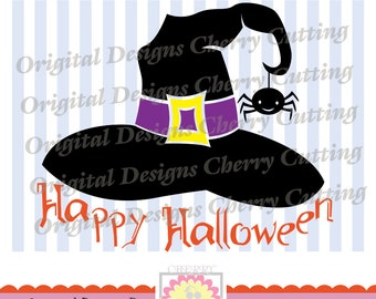 Witch hat SVG,Halloween witch with spider SVG, Halloween witch Silhouette Cut Files, Cricut Cut Files DIGIHL14 -Personal and Commercial Use