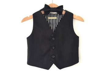 Ring bearer outfit baby boy vest waistcoat photo prop