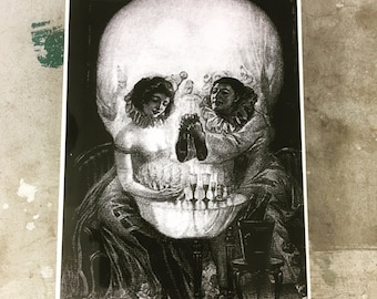 Wall Decor Skull Illusion Tile