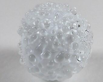 "Lampwork handmade ""Sugar Beads"" White Flamework By Bernadette Fuentes"
