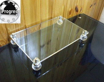 Rectangular Square Clear Acrylic Riser Stand Display Shelf Holder