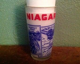 Vintage Niagara Falls souvenir drinking glass Anchor Hocking