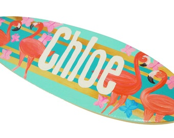 Decorative Surfboard Sign, Personalized Beach Signs, Beach Themed Wall Art for your Surfer Girl Party