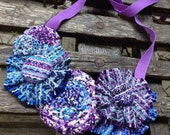 """Unique Bib Necklace from Upcycled Handwoven Nejesa """"Cosmic Storm"""" baby wraps"""