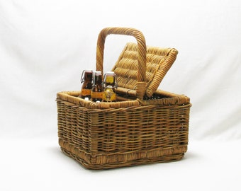 large wicker basket, french wicker basket ,picnic basket, storage basket , 1900s basket, wicker basket, french wicker basket