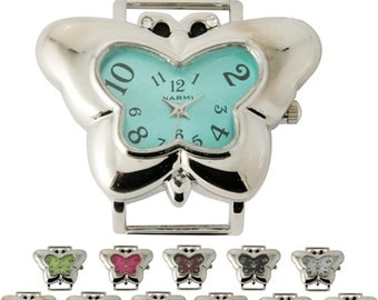 Butterfly Solid Bar Ribbon Watch Face ~ Many Colors! ~ 41 x 22 mm