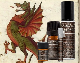 WYVERN Perfume: Earthy Floral Scent, Artisan Fragrance, Dragons Blood, Freesia Flower, Vegan Solid Perfume, Ships Out in 4-7 Days