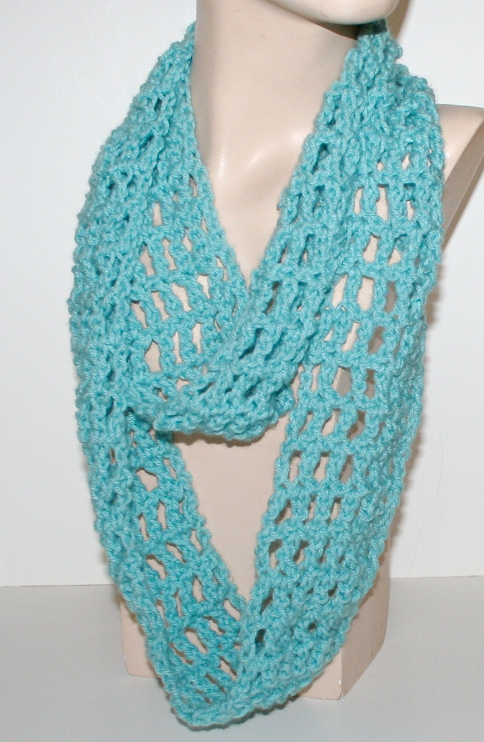 Crochet Pattern For Scarf Easy : Easy Crochet Scarf Pattern Tutorial Cowl by CzechBeaderyShop