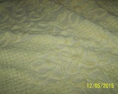 Lovely Vintage Yellow Chenille Cutter Bedspread