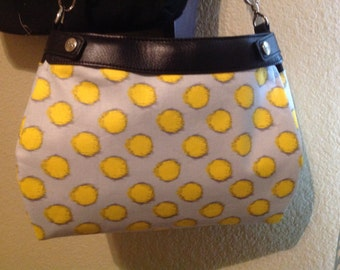 Brother sister Fabric  grey gold and dark grey 31 suite purse cover handmade thirty one