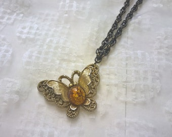 Repurposed Butterfly Necklace
