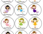 Faries Pixy Edible cookie toppers cupcake tops party decoration birthday tranfers 1 dozen