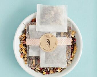 Aromatherapy Bath Teas 3-pack, herbal drawer sachets, lavender bath soak