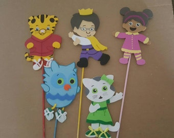 5 Foam Daniel Tiger Neighborhood and friends party decoration, centerpiece, cake toppers