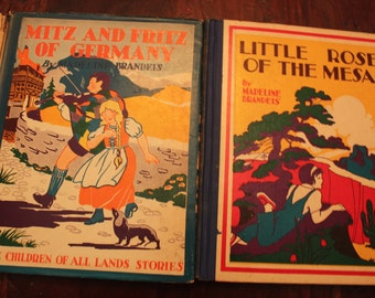 Vintage Set of 4 Books by Madeline Brandeis-Two of USA and 2 International