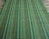 30 x 45 Green rag rug