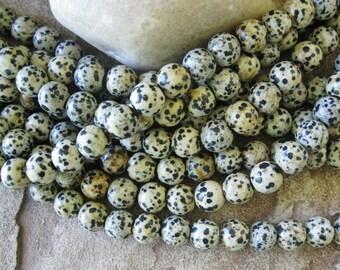 12MM Large hole Bead Big 4MM Hole Dalmatian Jasper Round 9 Beads Fits Leather Cord