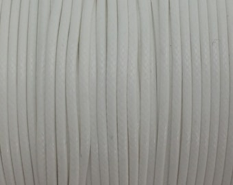 5 YARDS - 2MM White Woven Braided Waxed Nylon Cording Trim #17