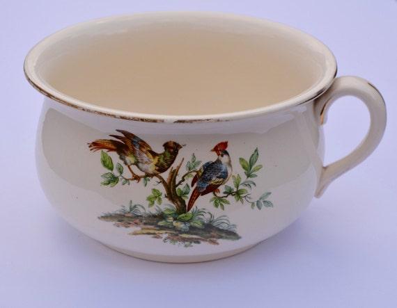 Edwardian Planter AJ Wilkinson Vintage Planter Royal Staffordshire Pottery Vintage Chamber Pot Vintage Potty Gazunder Vintage Home Decor