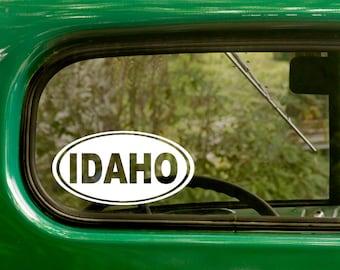Oval Idaho Decal, Car Decal, Idaho Sticker, Laptop Sticker, Oval Sticker, Bumper sticker, Vinyl Decal, Car Stickers