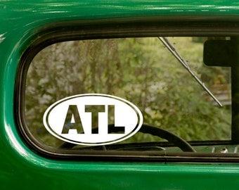 Atlanta Sticker Decal, ATL Decal, Georgia Decal, Laptop Sticker, Oval Sticker, Bumper, Vinyl Decal, Car Sticker