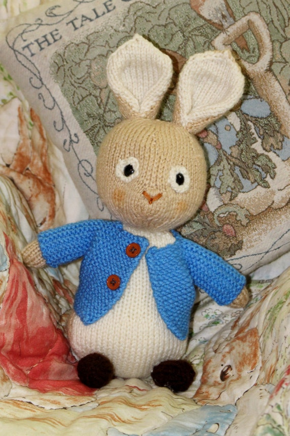 Amigurumi Peter Rabbit : Knitted Peter Rabbit Doll Amigurumi Toy