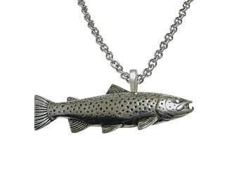 Trout Fish Pendant Necklace