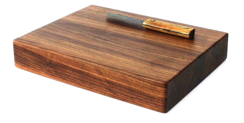 large butcher block cutting board edge grain walnut