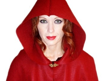 Renaissance Red Cloak