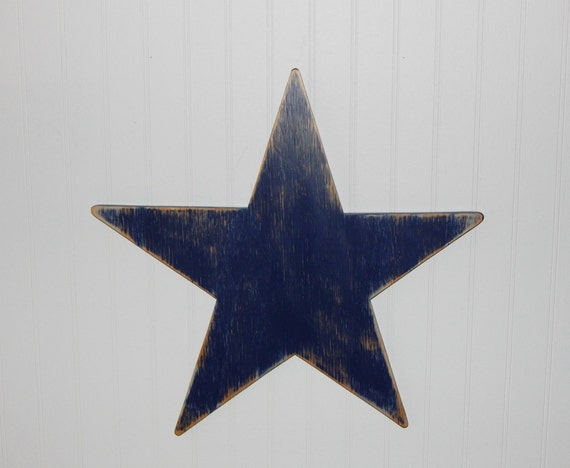 Wooden Star Distressed Primitive Star Rustic Star Wall Decor