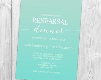 Ombre Rehearsal Dinner Invitation