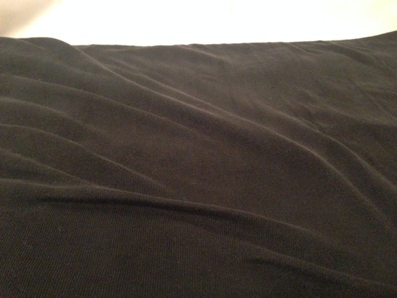 Black Stretchy Polyester Fabric F21