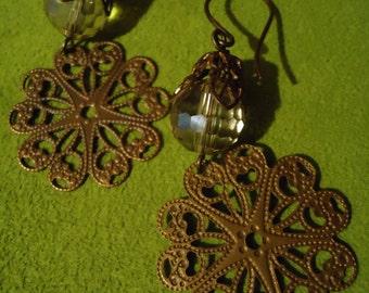 Boho Gypsy Inspired Sweet Windsong Surprise Fan Drop Dangle Earrings