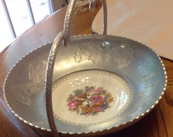Triumph Limoges 22k White Gold Imperial Victorian made for Faberware Basket