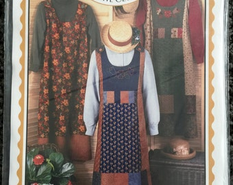 Four Corners The Aprong Jumper Womens Dress Pattern All Sizes Quilting Sewing 5877