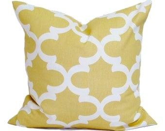 YELLOW PILLOW Sale.14x14 inch.Pillow Cover.Decorative.Home Decor..Tiles.Moroccan.Pale Yellow.Cushion Cover.Saffron Pillow.Cm.Yellow Tile