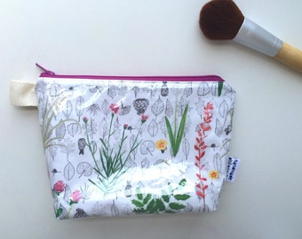 Botanical Divided Flat Bottom Pouch Small (handmade philosophy's pattern)