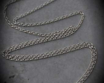 14 IN Made In Italy Solid 100% Genuine Sterling Silver Cable Chain