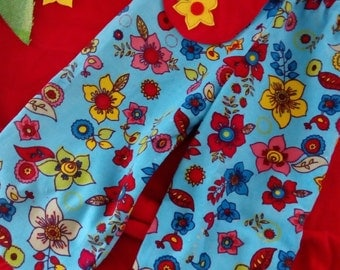 girls floral corduroy pants