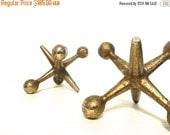 ON SALE Mid-Century Brass Jax | Atomic Mid Century Modern Large Jax Set | Home Decor | Bill Curry, George Nelson or Eames