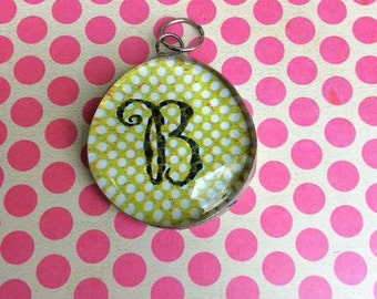 Soldered Letter B Pendant to be worn on a necklace
