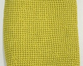 Olive green/yellow Waffle Half Linen Sauna Bathroom Towel. Stonewashed and Soft Linen/Cotton Towel.